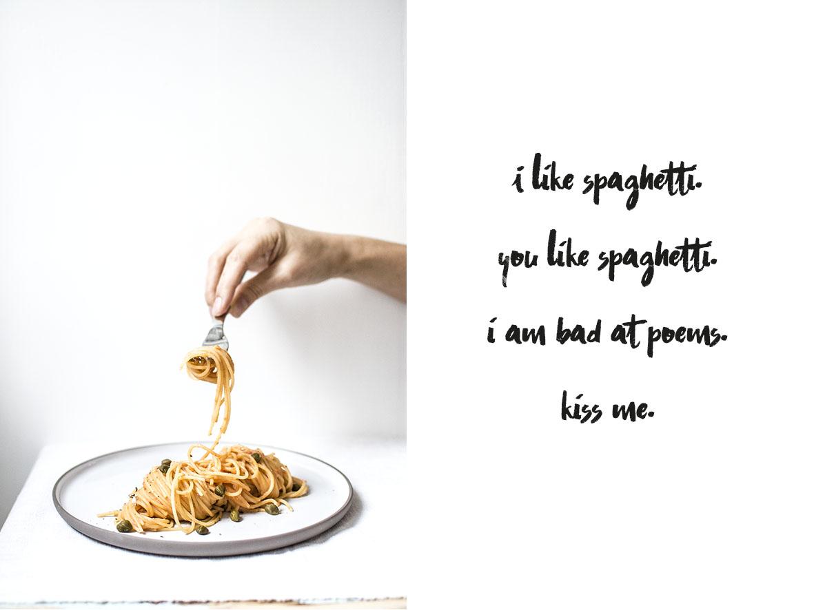 Spaghetti mit Ricotta und Kapern | chestnutandsage.de