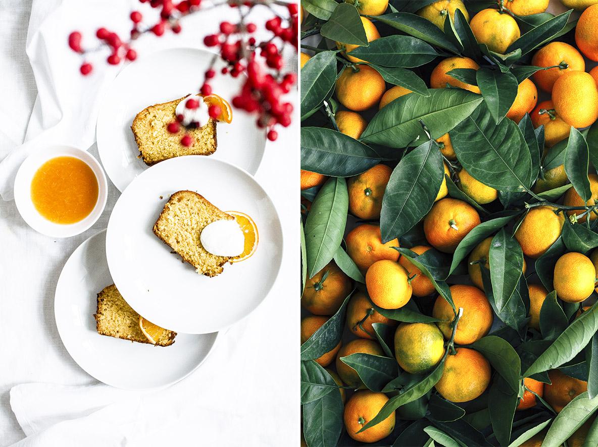 Orangenkuchen mit Orangenblütenwasser   chestnutandsage.de