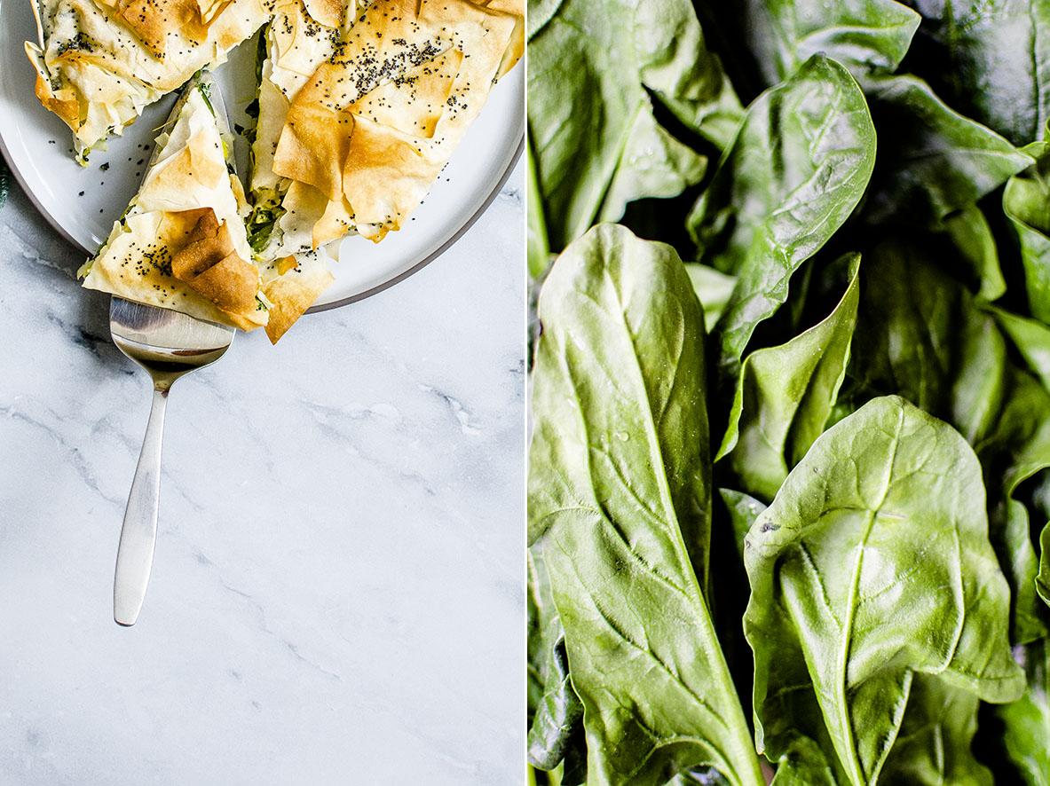 Filoteig-Kuchen | Spanakopita mit Spinat,Lauch und Feta | chestnutandsage.de