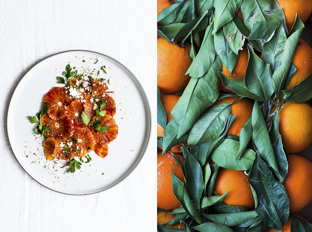 Orangen-Carpaccio mit Feta und Petersilie | chestnutandsage.de
