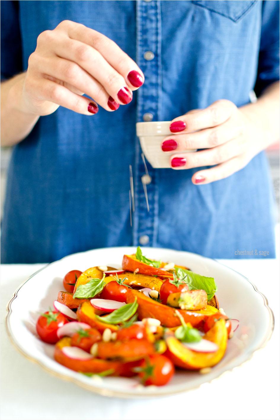 Kuerbis-Tomaten-Salat | chestnutandsage.de