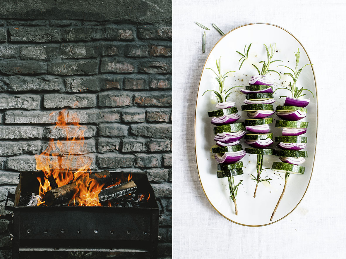 Zucchini Onion Skewer | chestnutandsage,de